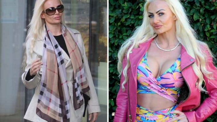 Mum who spent £300k to look like real-life Barbie arrives in court after hurling COMPUTER at nurses in rage