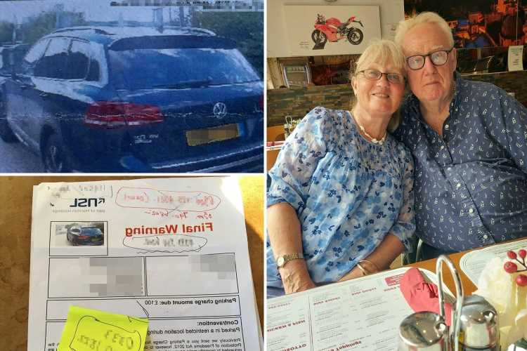 OAP, 73, furious as 'bully' parking firm fines them £100 for stopping to let dementia-stricken wife go to the toilet