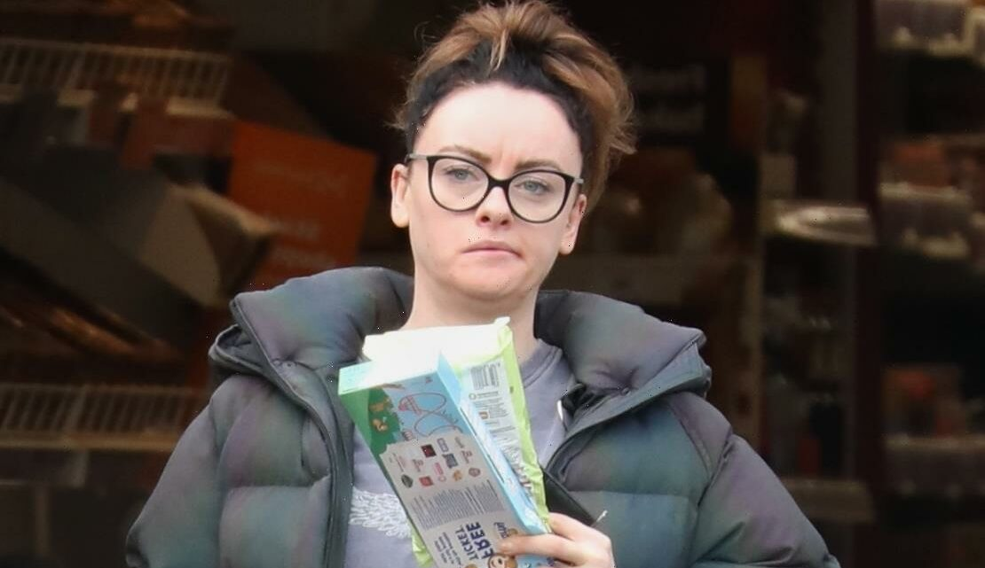Strictly's Katie McGlynn goes fresh faced in her comfies for supermarket sweep after getting the boot