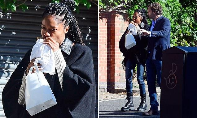 TALK OF THE TOWN: Naomie Harris grabs lunch on the go