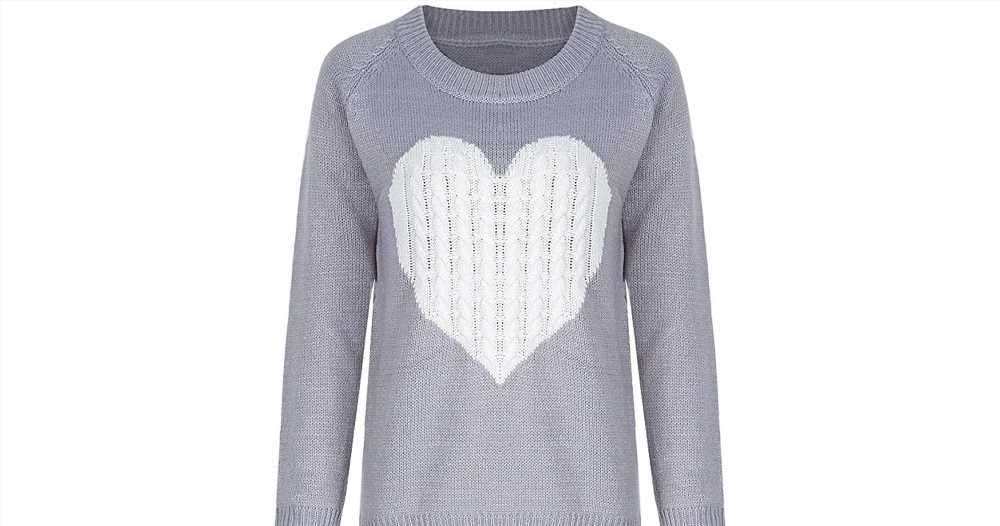 This Adorable Crewneck Heart Sweater Has All of the Good Vibes