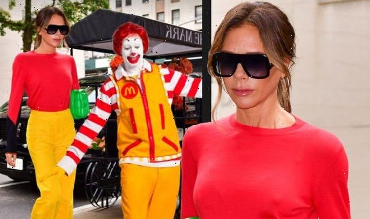 Victoria Beckham posts image of herself and Ronald Mcdonald: 'B***h stole my look'