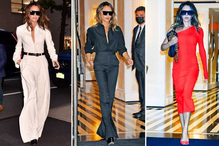 Victoria Beckham scores hat-trick as she's seen in three outfits in a day
